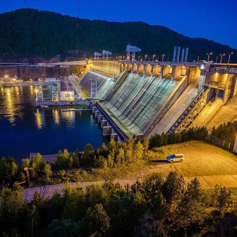 Дивногорск,Красноярский край.Красноярская ГЭС