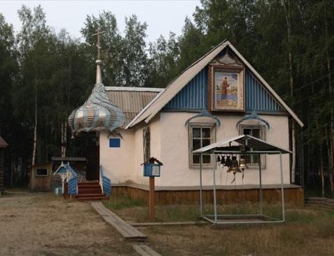 Храм святого мученика Василия Мангазейского в п. Бор