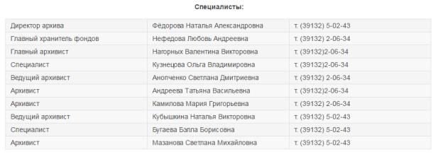"Специалисты архива МКУ ""Архив города Минусинска"""