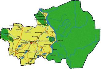 Карта Сухобузимского района